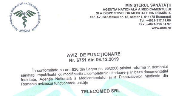 Aviz ANMDMR Telecomed